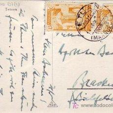 Sellos: MARRUECOS ESPAÑOL: TARJETA POSTAL CIRCULADA 1935 DE TETUAN A ALEMANIA.. Lote 27134644
