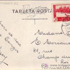 Sellos: MARRUECOS ESPAÑOL: TARJETA POSTAL CIRCULADA 1935 DE TETUAN A BRUSELAS. BONITA Y RARA ASI.. Lote 23597814