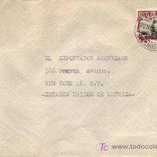 Sellos: MARRUECOS ESPAÑOL: CARTA CIRCULADA 1952 TETUAN A U.S.A. FRANQUEADA 50 CTS. TIPOS INDIGENAS.. Lote 4807917