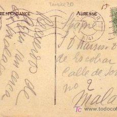 Sellos - TANGER: TARJETA CIRCULADA 1927 DE TANGER (MARRUECOS ESPAÑOL) A MALAGA. FRANQUEO EDIFIL 20 - 22799269