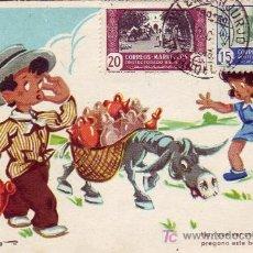 Sellos: MARRUECOS ESPAÑOL: TARJETA CIRCULADA 1947 DE VILLA SANJURJO (ACTUAL ALHUCEMAS) A MADRID.. Lote 23970832