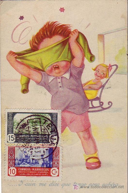MARRUECOS ESPAÑOL: TARJETA CIRCULADA 1946 DE TETUAN A SIGÜENZA (GUADALAJARA). (Sellos - Historia Postal - Sello Español - Sobres Circulados)