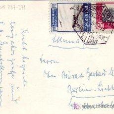 Sellos: MARRUECOS ESPAÑOL: TARJETA CIRCULADA POR CORREO AEREO 1953 DE TETUAN A BERLIN.. Lote 23990798