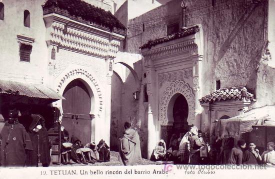 Sellos: MARRUECOS ESPAÑOL: TARJETA CIRCULADA POR CORREO AEREO 1953 DE TETUAN A BERLIN. - Foto 2 - 23990798