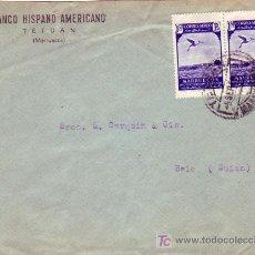 Sellos: MARRUECOS ESPAÑOL: CARTA COMERCIAL BANCO HISPANO AMERICANO CIRCULADA 1956 DE TETUAN A SUIZA.. Lote 24240726