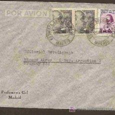 Sellos: MADRID ESTAFETA POSTAL NRO. 12 - SOBRE DIRIGIDO A BUENOS AIRES - 1948 DE PEFUMERIA GAL. Lote 20983182