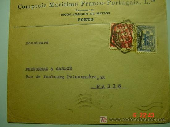 564 PORTUGAL CARTA CIRCULADA - MAS DE ESTE TEMA EN MI TIENDA COSAS&CURIOSAS (Sellos - Historia Postal - Sello Español - Sobres Circulados)
