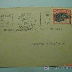 Sellos: 1103 SUD AFRICA A LASARTE GUIPUZCOA CARTA CIRCULADA AÑO 1931 - COSAS&CURIOSAS. Lote 5602673
