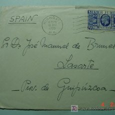 Sellos: 1109 GRAN BRETAÑA A LASARTE GUIPUZCOA CARTA CIRCULADA AÑO 1935 - COSAS&CURIOSAS. Lote 5602750