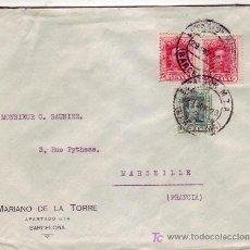 Sellos: ESTACION M.Z.A: RARO MATASELLOS EN CARTA CIRCULADA 1923 DE BARCELONA A FRANCIA. . Lote 22625276