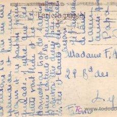 Sellos: MATASELLOS DE RODILLO EN TARJETA POSTAL CIRCULADA 1933 DE ALICANTE A FRANCIA. BONITA.. Lote 12039218