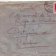 Sellos: COMITE INTERNACIONAL CRUZ ROJA : DESTINO CARTA CIRCULADA 1938 MADRID A BARCELONA. RARO MATASELLOS. . Lote 24080873