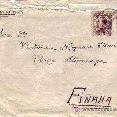 Sellos: 5 Y 25 CTS. ALFONSO XIII SOBRECARGADOS REPUBLICA ESPAÑOLA EN CARTA CIRCULADA 1931 A FIÑANA (ALMERIA. Lote 5660113