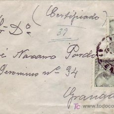 Sellos: CARTA CERTIFICADA CIRCULADA 1945 DE MONTEJICAR (GRANADA) A GRANADA. RARO ORIGEN. LLEGADA. MPM.. Lote 5660257
