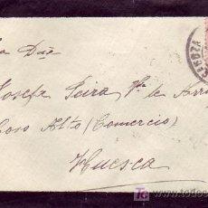 Sellos: CARTA CIRCULADA 1928 DE ZARAGOZA A HUESCA. 25 CTS. ALFONSO XIII VAQUER. LLEGADA. MPM.. Lote 5719463
