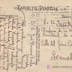 Sellos: MATASELLOS RODILLO PUBLICITARIO Y CORREO CENTRAL EN TARJETA CIRCULADA 1930 DE MADRID A GRANADA. MPM.. Lote 5720192