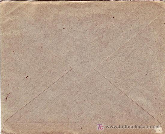 Sellos: AMB.DESC. I VAL-BAR: RARO MATASELLOS EN CARTA COMERCIAL 1902 DE VALENCIA A LYON (FRANCIA). LLEGADA. - Foto 2 - 22625287