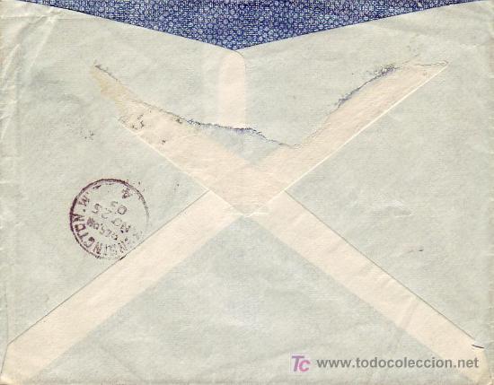 Sellos: ALCANCE NORTE: RARO MATASELLOS EN CARTA CIRCULADA 1903 DE MADRID A LONDRES. MATASELLOS DE LLEGADA. - Foto 2 - 22625294