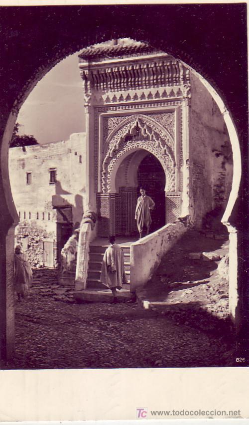 Sellos: MARRUECOS ESPAÑOL: MARCA TINTA AZUL BARCO ALEMAN EN TARJETA CIRCULADA 1933 DE TETUAN A HANNOVER. - Foto 2 - 22625297