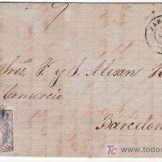 Sellos: EDIF. 107. CARTA CIRCULADA DE ZARAGOZA A BARCELONA.. Lote 26474937