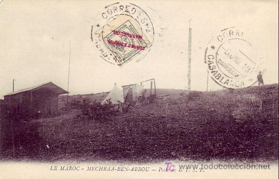 MARRUECOS ESPAÑOL: TARJETA 1913 CORREO ESPAÑOL EN MARRUECOS CASABLANCA. BONITO FRANQUEO. (Sellos - Historia Postal - Sello Español - Sobres Circulados)