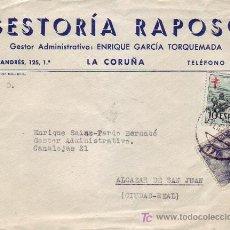 Sellos: PRO TUBERCULOSOS CARTA COMERCIAL GESTORIA RAPOSO LA CORUÑA-ALCAZAR DE SAN JUAN (CIUDAD REAL). MPM.. Lote 6764597