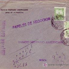 Sellos: RARO FRANQUEO EN CARTA COMERCIAL CIRCULADA 1937 DE JEREZ DE LA FRONTERA (CADIZ) A ECIJA (SEVILLA).. Lote 7106261
