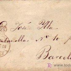 Sellos: FRANQUICIA DEL CONGRESO EN CARTA CIRCULADA 1889 A BARCELONA. MATASELLOS DE LLEGADA. RARA ASI.. Lote 24743627