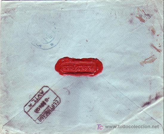 Sellos: ALFONSO XIII CADETE EN CARTA 1908 CORREO CERTIFICADO MADRID-PIEDRAHITA (AVILA). TRANSITO Y LLEGADA. - Foto 2 - 23578795