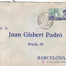 Sellos - CARTA CIRCULADA 1968 DE FERREIRA (LUGO) A BARCELONA MATASELLOS FECHADOR. RARO ORIGEN. - 7335626