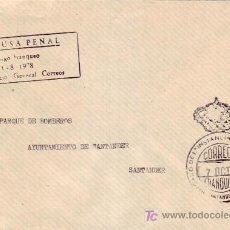Sellos: FRANQUICIA JUZGADO DE PRIMERA INSTANCIA E INSTRUCCION EN CARTA CIRCULADA 1987 SANTANDER INTERIOR MPM. Lote 7362338