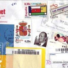 Sellos: CARTA COMERCIAL CIRCULADA RAFELBUNYOL-BADAJOZ CON BONITO FRANQUEO SELLOS Y ETIQUETAS. RARO ASI. MPM.. Lote 7375460