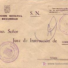 Sellos: FRANQUICIA COMISARIA DEL CUERPO GENERAL DE POLICIA EN CARTA CIRCULADA 1976 MALAGA INTERIOR. MPM.. Lote 7547883