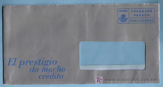 SOBRE FRANQUEO PAGADO. PUBLICORREO (Sellos - Historia Postal - Sello Español - Sobres Circulados)