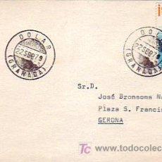 Sellos: TARJETA CIRCULADA 1979 DE DOLAR (GRANADA) A GERONA. RARO ORIGEN. MPM.. Lote 7797028