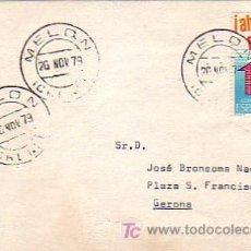 Sellos: TARJETA CIRCULADA 1979 DE MELON (ORENSE) A GERONA. MPM.. Lote 7797096