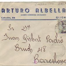 Sellos: CARTA COMERCIAL ARTURO ALBELLA CIRCULADA 1943 DE CARBALLINO (ORENSE) A BARCELONA. MPM.. Lote 7797219