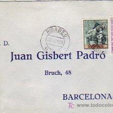 Sellos: PINTURA ALONSO CANO EN CARTA COMERCIAL CIRCULADA 1969 DE RIBADEO (LUGO) A BARCELONA. MPM.. Lote 7797231