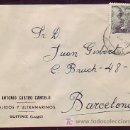 Sellos: CARTA COMERCIAL (ANTONIO CASTRO CANCELO) CIRCULADA AÑOS 40 DE GUITIRIZ (LUGO) A BARCELONA. LLEGADA.. Lote 7809308