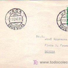 Sellos: TARJETA CIRCULADA 1981 DE JACA (HUESCA) A GERONA. MPM.. Lote 7809370