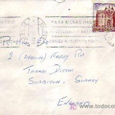 Sellos: MATASELLOS RODILLO (PARA BILBAO.) CARTA CIRCULADA 1979 PALMA DE MALLORCA (BALEARES)-INGLATERRA. MPM.. Lote 7933916