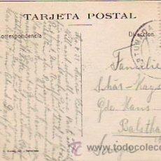 Sellos: TARJETA SAGRADA FAMILIA EN CONSTRUCCION, CIRCULADA 1931 DE LA FORTUNADA (HUESCA) A SUIZA. RARA. MPM. Lote 8002929