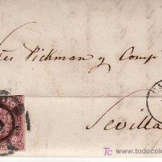 Sellos: SOBRE CIRCULADO A SRES PICKMAN Y CIA. DE CADIZ A SEVILLA EN 1863. Lote 26121439