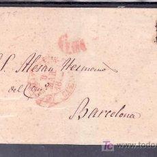 Sellos: .115 CARTA ALBACETE A BARCELONA, FRANQUEO 12 CON MATASELLO PARRILLA Y SOBRE PLIEGO PORTEO 6MS EN ROJ. Lote 10731326