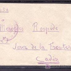 Sellos: .119 SOBRE FRENTE DE GUADALAJARA A JEREZ, CON MARCA DE FRANQUICIA MILITAR DE SIGUENZA Y CENSURA JERE. Lote 10645370