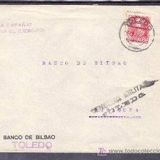 Sellos: .124 SOBRE TOLEDO A ZARAGOZA, FRANQUEO 857 CENSURA T-25-6 EN NEGRO, MARCA PATRIOTICA ¡VIVA ESPAÑA! ¡. Lote 10780061