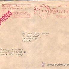 Sellos: FRANQUEO MECANICO 15 PESETAS POSTAL EXPRESS EN CARTA COMERCIAL CIRCULADA MALAGA INTERIOR 1996. MPM. Lote 8313123