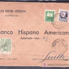 Sellos: .204 SOBRE ALMENDRALEJO (BADAJOZ) A SEVILLA, FRANQUEO REPUBLICA Y LOCAL G107A MATASELLADOS . Lote 10780333