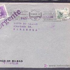 Sellos: .278 FRONTAL VITORIA A ZARAGOZA, FRANQUEO 817 Y COMO URGENTE 842, MARCA URGENTE VIOLETA . Lote 10418204