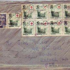 Sellos: PRO TUBERCULOSOS 1949: INUSUAL FRANQUEO (9 EJEMPLARES) EN CARTA CIRCULADA A OXFORD (USA). LLEGADA.. Lote 23654693
